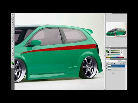 Virtual Car tuning in Photoshop